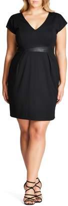 City Chic Spliced Mod Sheath Dress