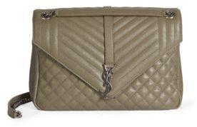 Saint LaurentSaint Laurent Large Monogram Tri-Quilted Leather Envelope Chain Shoulder Bag