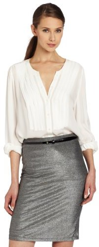 Joie Women's Kilia Matte Silk With Raw Edge Blouse