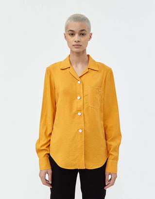 Lorod Long Sleeve Bowling Shirt in Marigold
