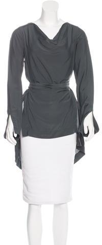 Vivienne WestwoodVivienne Westwood Anglomania Long Sleeve Wrap Top