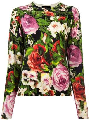 Samantha Sung floral long-sleeve sweater