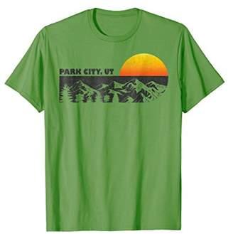 Retro Park City Utah Mountain Sunset Winter T-Shirt