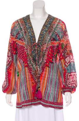 Camilla Printed Silk Tunic