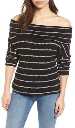 Caslon Convertible Neck Knit Pullover (Petite)