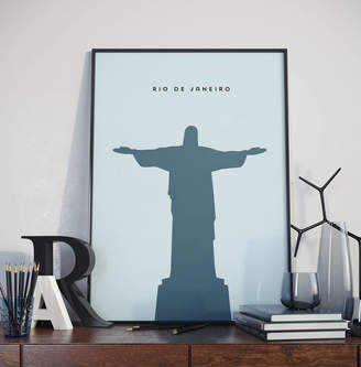 Jack's Posters Rio De Janeiro Christ The Redeemer Landmark Print