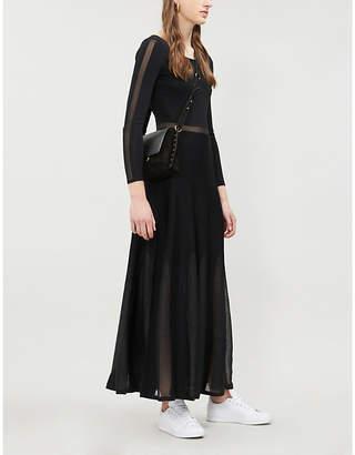 Sandro Panelled maxi stretch-dress