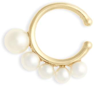 Mizuki Sea of Beauty Graduated Pearl Ear Cuff