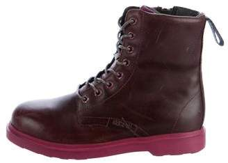 Camper Girls' Leather Combat Boots
