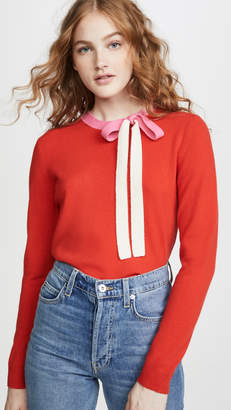 Chinti and Parker Cashmere Tie Neck Sweater