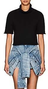 alexanderwang.t. Women's Cotton Crop Turtleneck Sweater - Black