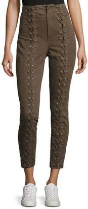 A.L.C. Kingsley Lace-Up High-Waist Pants
