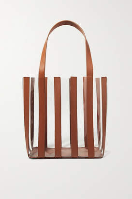 Loeffler Randall Marlena Pvc And Leather Tote - Tan