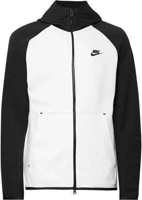 Nike Sportswear Colour-Block Cotton-Blend Tech Fleece Zip-Up Hoodie