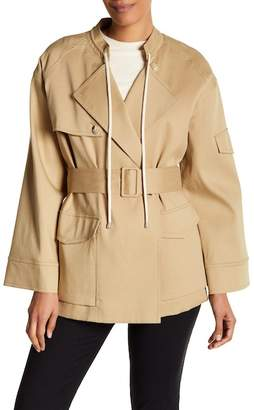 Helmut Lang Oversized Sleeve Trench Coat