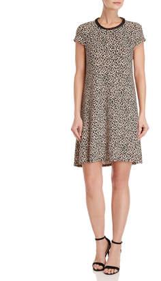 Karl Lagerfeld Leopard Jersey Tent Dress