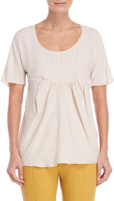 Marni Rose Scoop Neck Cinched Blouse