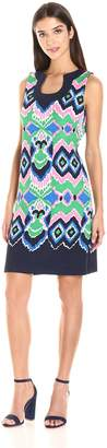 Gabby Skye Women's Psychedelic Printed Sleeveless Dress