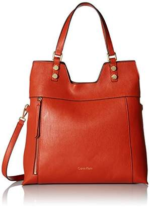 Calvin Klein Alexis Faux Leather Reversible North/South Tote