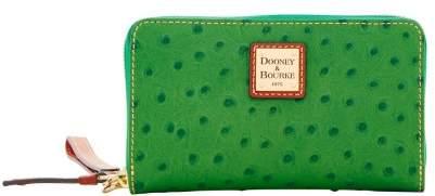 Dooney & Bourke Ostrich Zip Around Phone Wristlet - GREEN - STYLE