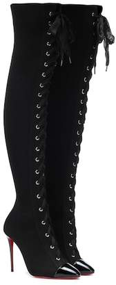 Christian Louboutin Frenchie 100 over-the-knee boots