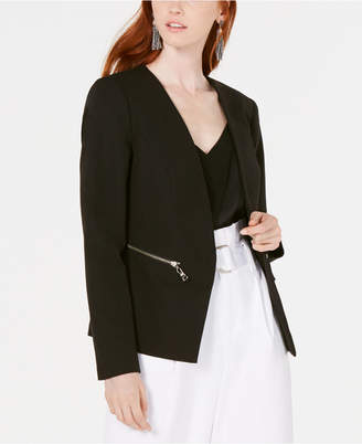 Bar III Zip-Pocket Blazer Jacket, Created for Macy's