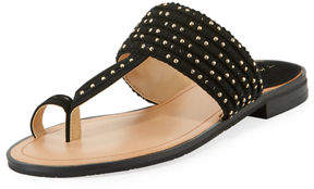 Tahari Studded Fabric Toe-Ring Sandal