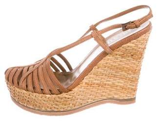 7fb6782cc Prada Slingback Wedge Women's Sandals - ShopStyle