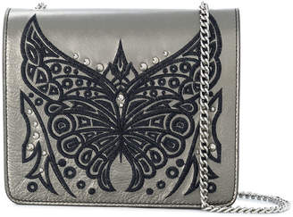 Just Cavalli (ジャスト カヴァリ) - Just Cavalli embroidered butterfly shoulder bag