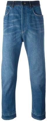 Lanvin stonewashed dropped crotch jeans