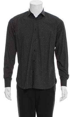 Saint Laurent Polka Dot Print Button-Up Shirt
