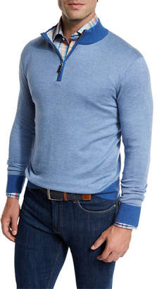 Peter Millar Crown Soft Quarter-Zip Birdseye Pullover Sweater $165 thestylecure.com