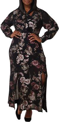 Maree Pour Toi Floral Long Sleeve Maxi Dress