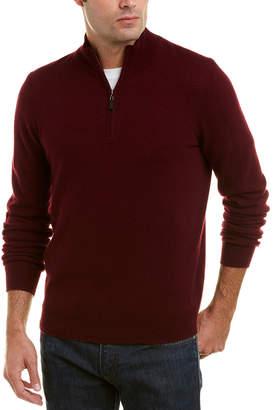 Mette 1/4 Zip Mock Cashmere Sweater
