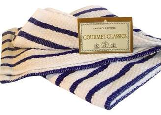 Co Harold Import Harold Import Company Oversized Striped Kitchen Towel, Royal Blue and White
