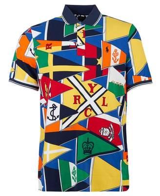 f07a5a614223fc Polo Ralph Lauren Custom Slim Fit Burgee Print Polo Shirt Colour  MULT