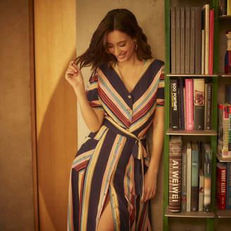 Warehouse Georgia Stripe Midi Dress
