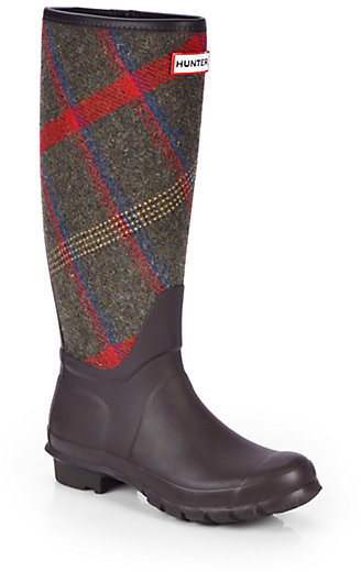 Hunter Check Rain Boots