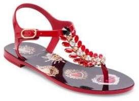 Dolce & Gabbana Jeweled Thong Sandals