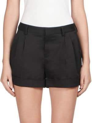 Pleated Cuffed Shorts