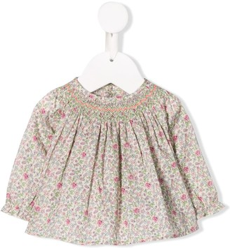 Bonpoint floral print smock blouse
