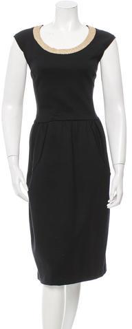 Saint LaurentYves Saint Laurent Wool Midi Dress