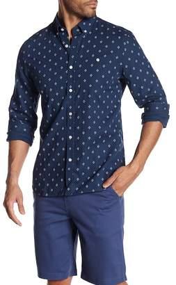 Jack Spade Long Sleeve Diamond Quad Print Trim Fit Shirt