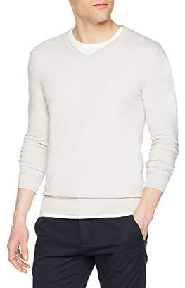 Sisley Men's V Neck Sweater L/s Jumper