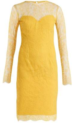 Emilio De La Morena Julietta Lace And Silk Blend Dress - Womens - Yellow