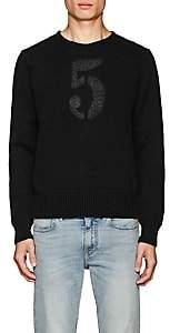"""Rrl Men's """"5""""-Print Cotton Sweater-Black Size Xl"""