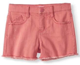 Planet Pink LIttle Girls' 4-6X Super Soft Color Denim Short