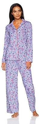 Karen Neuburger Women's Pajama Long Sleeve Animal Print Girlfriend Pj Set