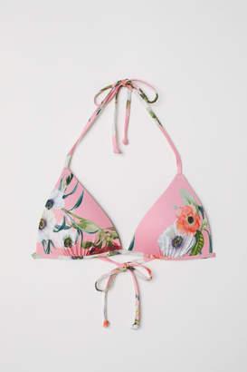 H&M Padded Triangle Bikini Top - Pink