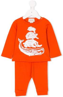 Gucci Kids printed animals top and trousers set